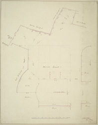 [Survey of part of the ground in Whitehall Place]